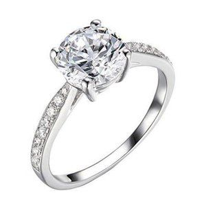 Sparkling CVD 1.75 carats diamonds Anniversary rin